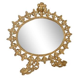 Vintage Standing Gilt Vanity Mirror
