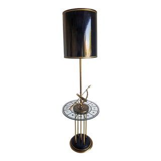1960's Brass Armillary Astrological Floor Lamp