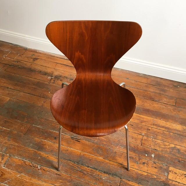 vintage arne jacobsen for fritz hansen series 7 chair chairish. Black Bedroom Furniture Sets. Home Design Ideas
