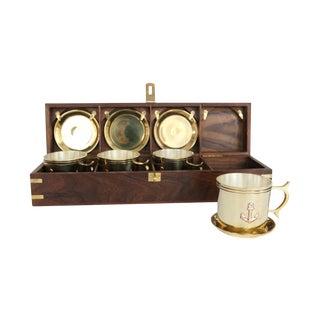 Nautical Captain's Cup and Saucer Box Set