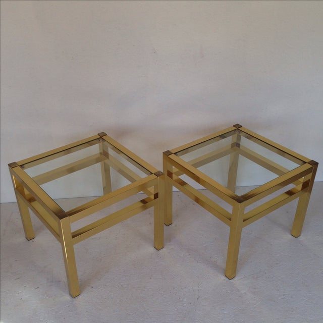 Image of Brass End Tables