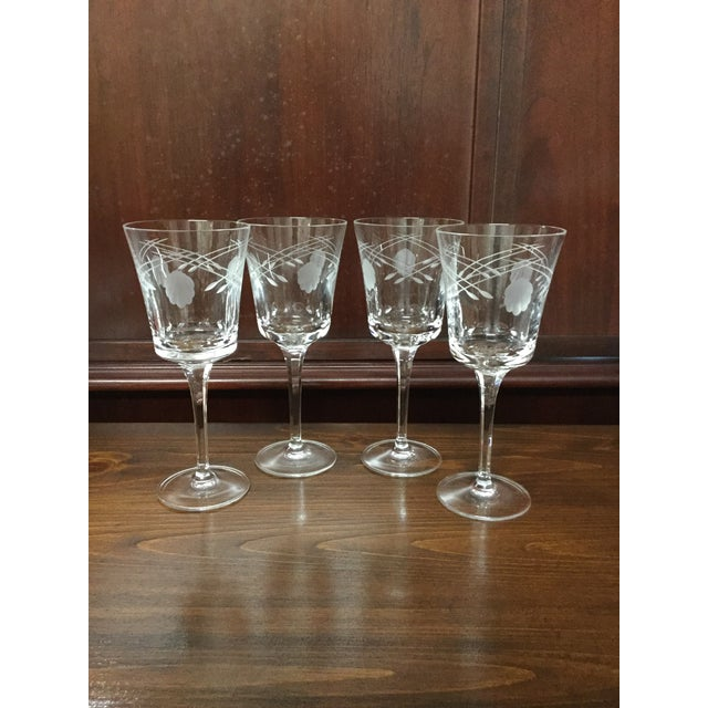 Heritage Princess House Crystal Stemware Glasses Set Of