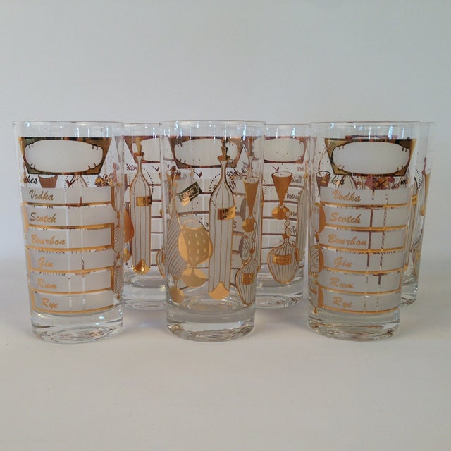Signed Gay Fad Cocktail Glasses - Set of 6 - Image 2 of 6