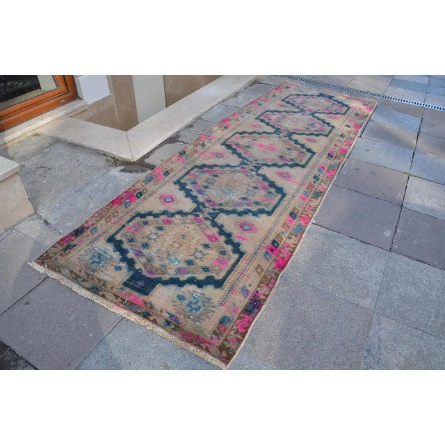 Antique Persian Runner Rug - 3′2″ × 9′11″ - Image 3 of 6