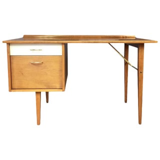 Mid-Century Modern Milo Baughman for Murray Furniture Maple Desk