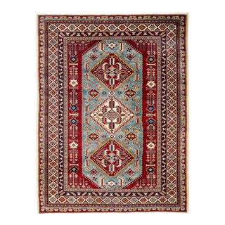 """New Traditional Hand Knotted Area Rug - 5'2"""" x 6'7"""""""