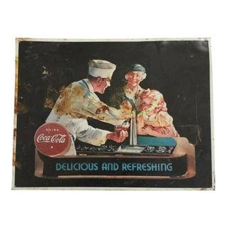 Vintage Coca Cola Advertisement Sign