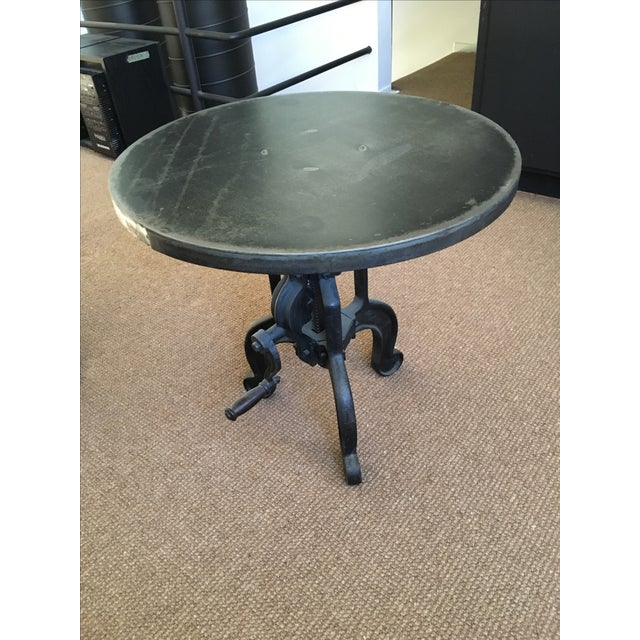 Industrial Crank Side Table Chairish