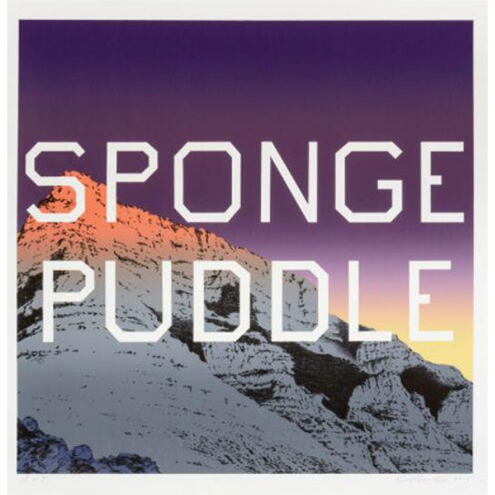 Sponge Puddle lithography by Ed Ruscha - Image 1 of 3