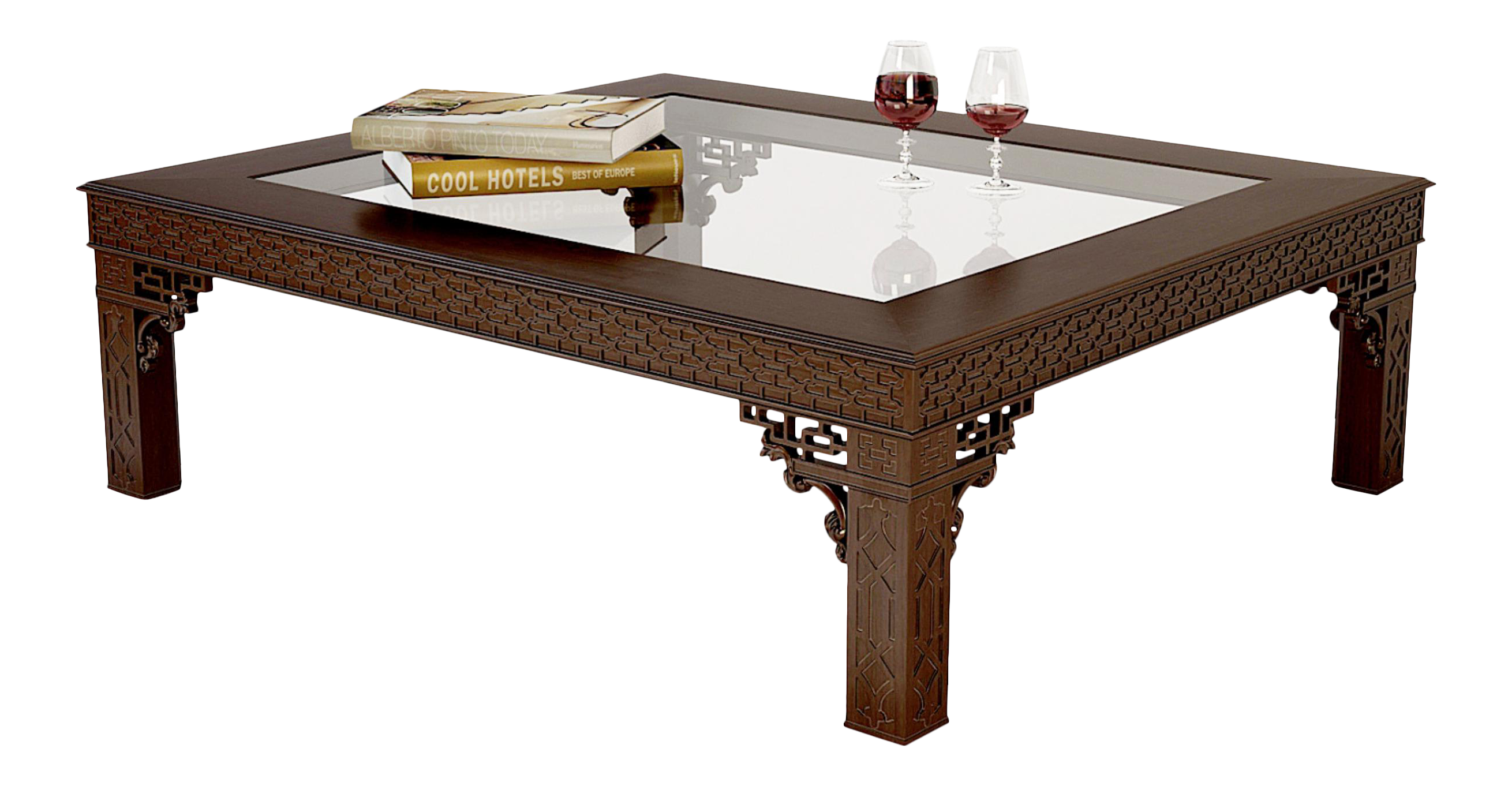 Exceptional Ralph Lauren Large Coffee Table From The Conservatory Garden Collection    Beautiful Fretwork