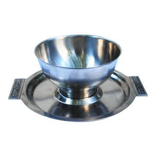 Vintage Stainless Serving Bowl
