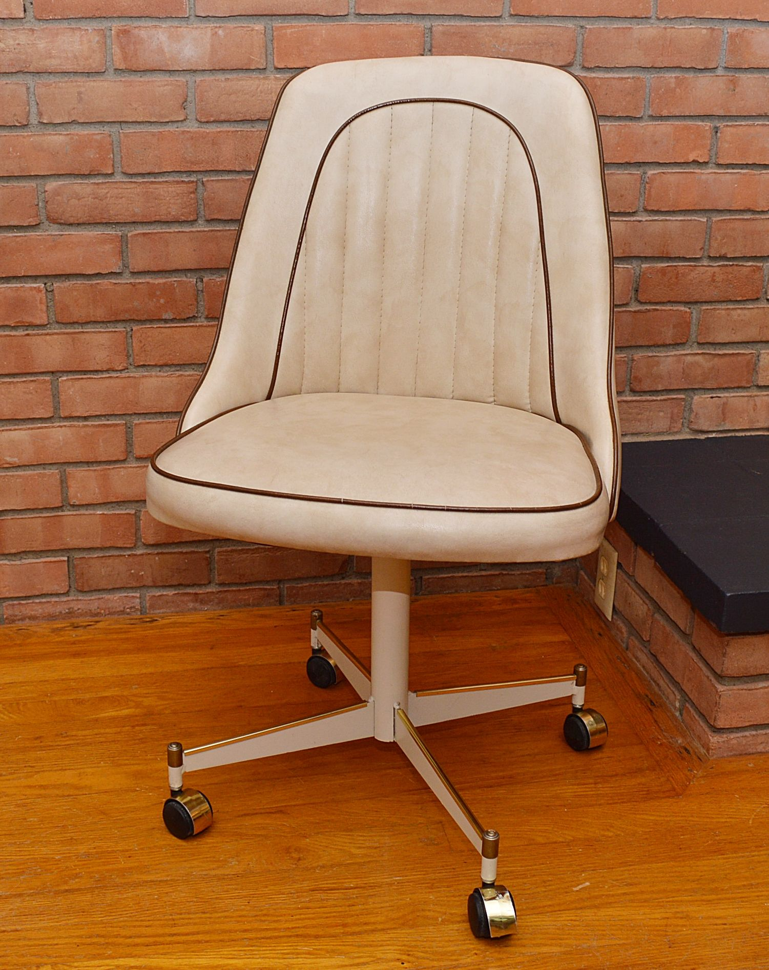 desk and chair vintage stoneville rolling desk chair chairish 14671