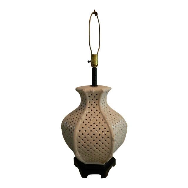 Vintage Nardini Blanc De Chine Pierced Lamp - Image 1 of 7