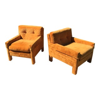 Milo Baughman for Directional Club Chairs Thayer Coggin - a Pair