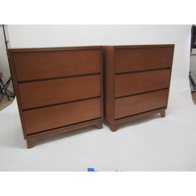 Image of Flared Leg Chests of Drawers - A Pair