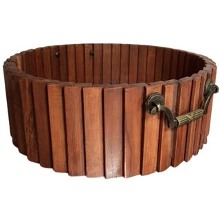 Hand-Crafted Decorative Wood Slat Bowl
