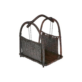 Black Wicker Magazine Holder