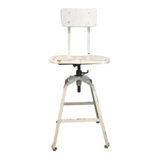 Vintage Industrial Adjustable Height Drafting Stool