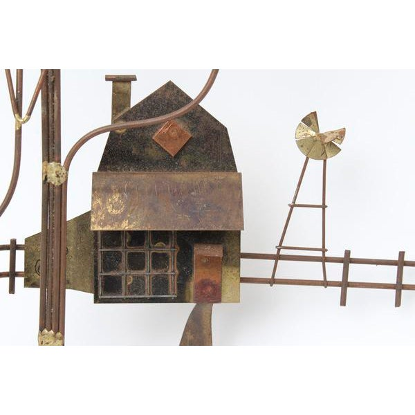 Curtis Jere Country House With Windmill Wall Sculpture - Image 2 of 8