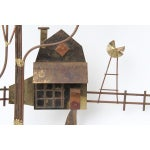 Image of Curtis Jere Country House With Windmill Wall Sculpture