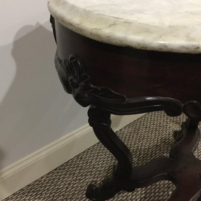 Image of Antique Marble Top Center Table