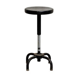 Industrial Black Ajusto Stool