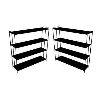 Industrial Steel Bookshelves - a Pair