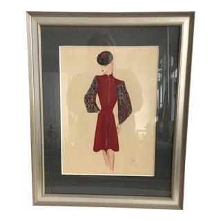 Illustration - Fashion (Framed)