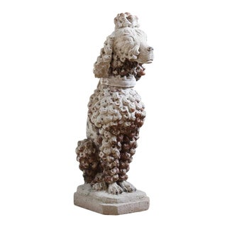 Large Cast Stone French Poodle
