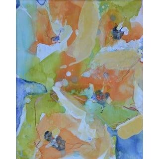 'Buttercups 11' Mixed Media Painting
