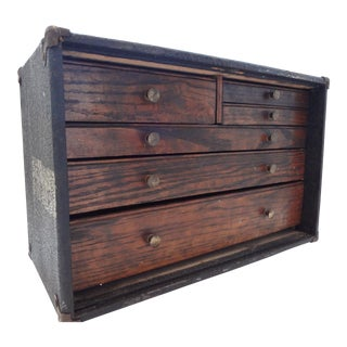Vintage Handmade Wood Tool Box
