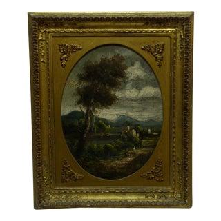"""Van Blas """"Evening Walk"""" Original Framed Painting on Board"""