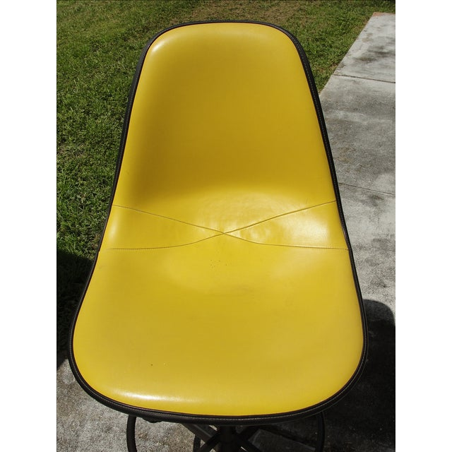 Image of Mid-Century Herman Miller Yellow Bar Stool