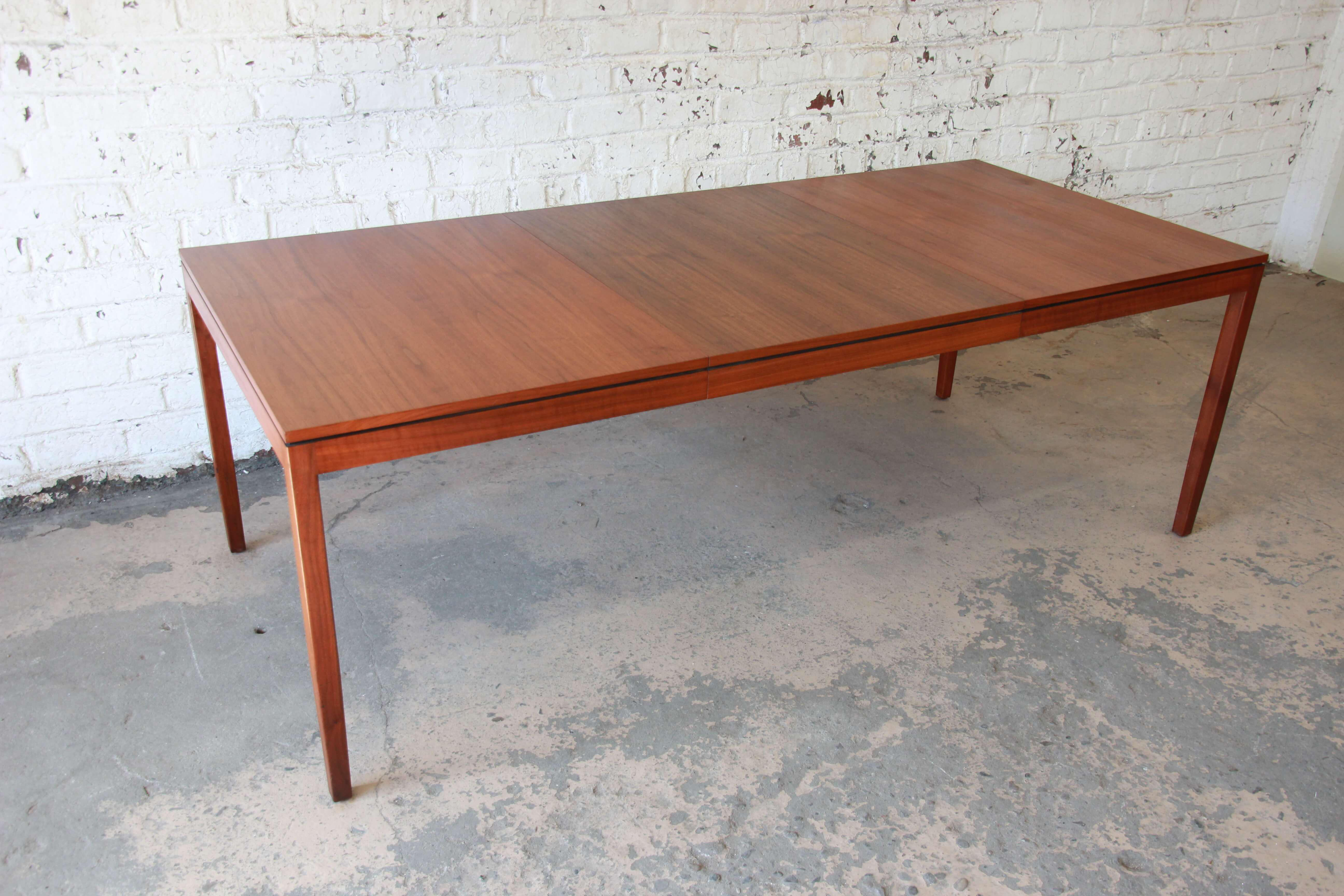 1957 Vintage Florence Knoll For Knoll International Walnut Extension Dining  Table   Image 2 Of 10