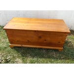 Image of Primitive Antique Dovetailed Pine Hope Chest