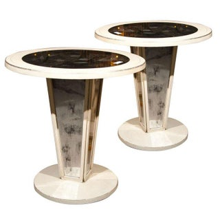 Maison Jansen Mirrored Side Tables - A Pair