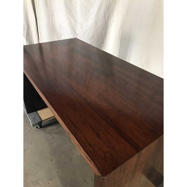 Ed Wormley Rosewood English Oak Desk - Image 5 of 11