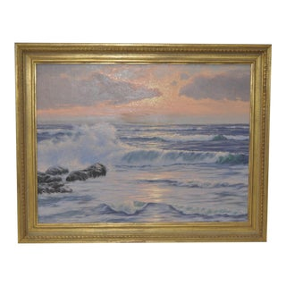 """Coastal Sunset"" Original Oil Painting by R. Lorenz"