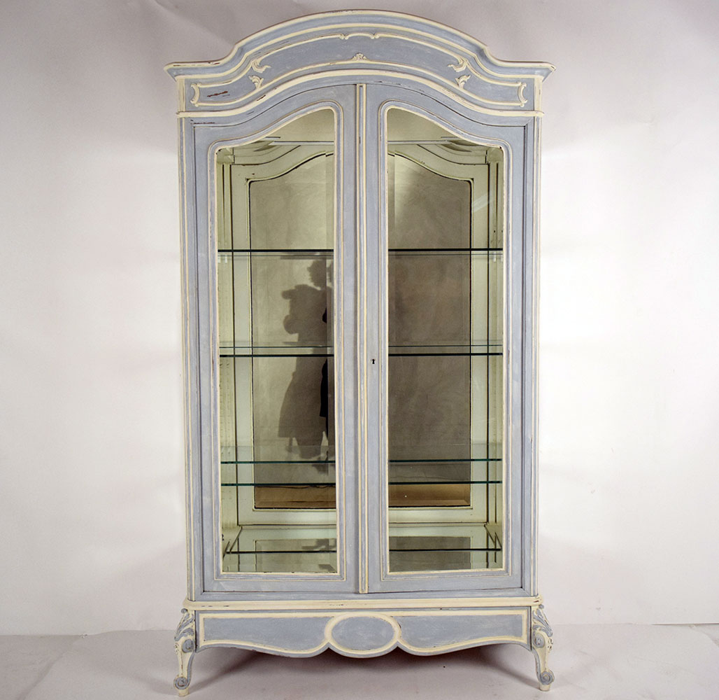 colors kitchen cabinets 19th c louis xv 2 door display cabinet chairish 13727