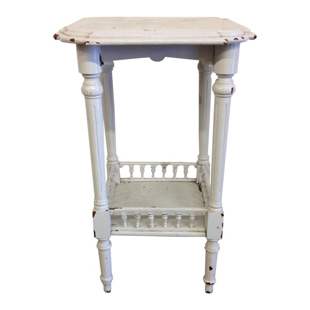 Rustic French Vintage Plant Stand - Image 1 of 10