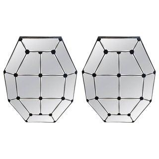 Vintage Octagonal Mirrors - A Pair