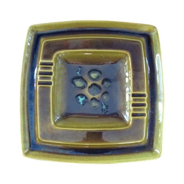 Image of Mid-Century Glazed Ceramic Ashtray