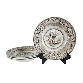 Antique English Soup Bowls - Set of 4