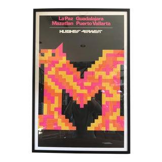 1971 Mario Armond Hughes Airwest Mexico Poster