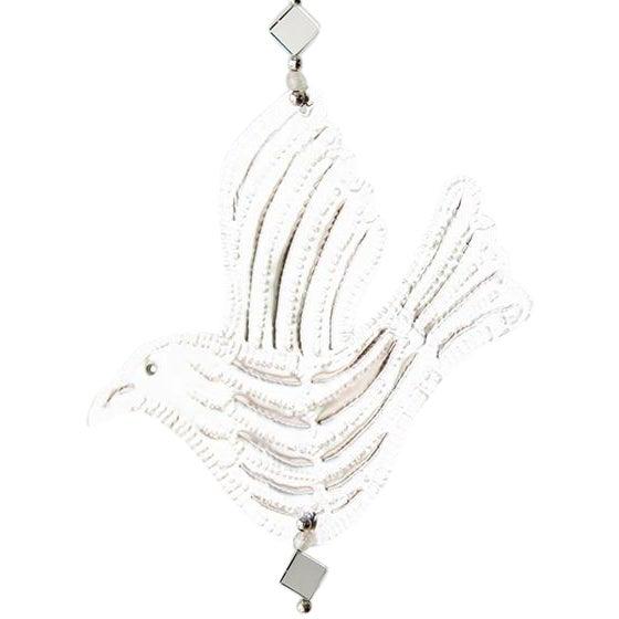Hanging Mirrored Bird Aluminum Ornament - Image 1 of 3