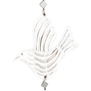 Hanging Mirrored Bird Aluminum Ornament
