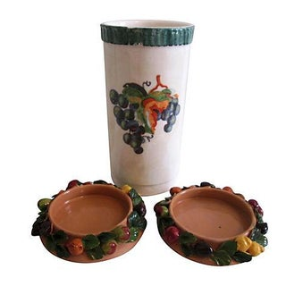 Italian Wine Cooler with Coasters - 3 Pieces