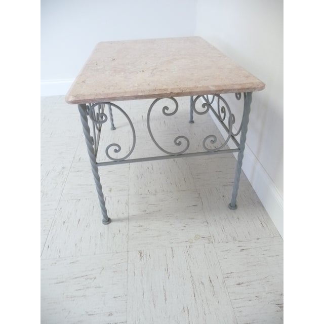 Vintage Iron & Marble Coffee Table - Image 4 of 9