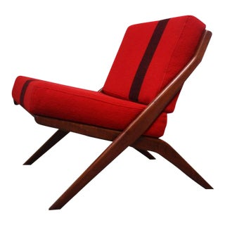 Swedish 'Scissor' Chair by Folke Ohlsson for DUX