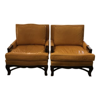 Kellex Leather Arm Chairs - A Pair